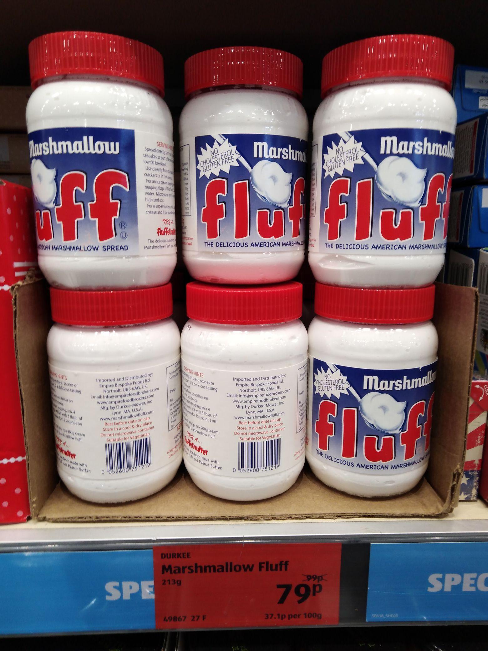 Fluff Marshmallow Spread - 79p @ Aldi instore