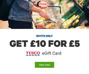 Tesco £10 for £5 eGift Card invite only @ Groupon
