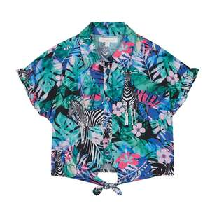 Girls' Multicoloured Floral Zebra Print Blouse Ages 9 & 10 £2.97 delivered with codes @ Debenhams