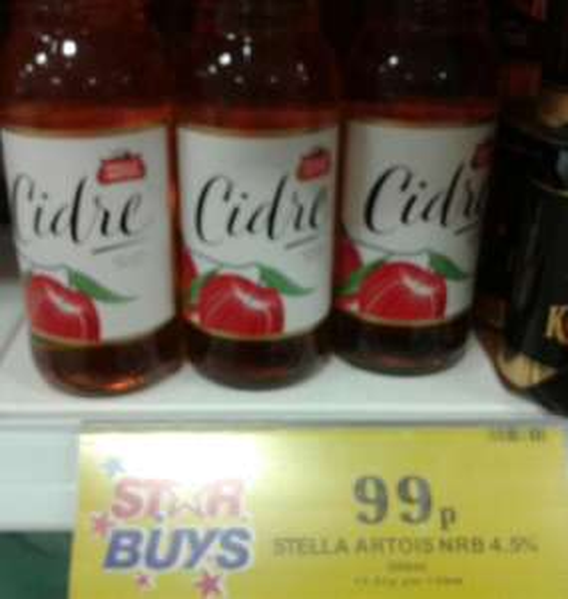 Stella Artois Cidre 500ml  99p  at Home Bargains, New Brighton In-store