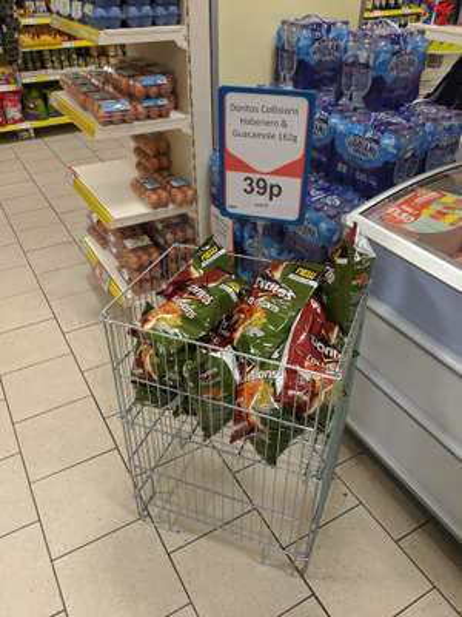 Doritos Collisions Habenero Chilli & Guacamole 162g 39p each @ Heron Foods Bury