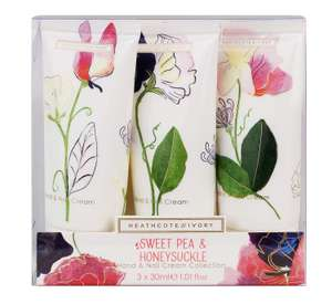 Sweet Pea and Honeysuckle Hand and Nail Cream Collection, Pack of 3, £3.99 at Amazon Add-On