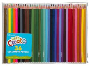 WHSmith Assorted Colouring Pencils (Pack of 36) £1.99 @ WH Smiths