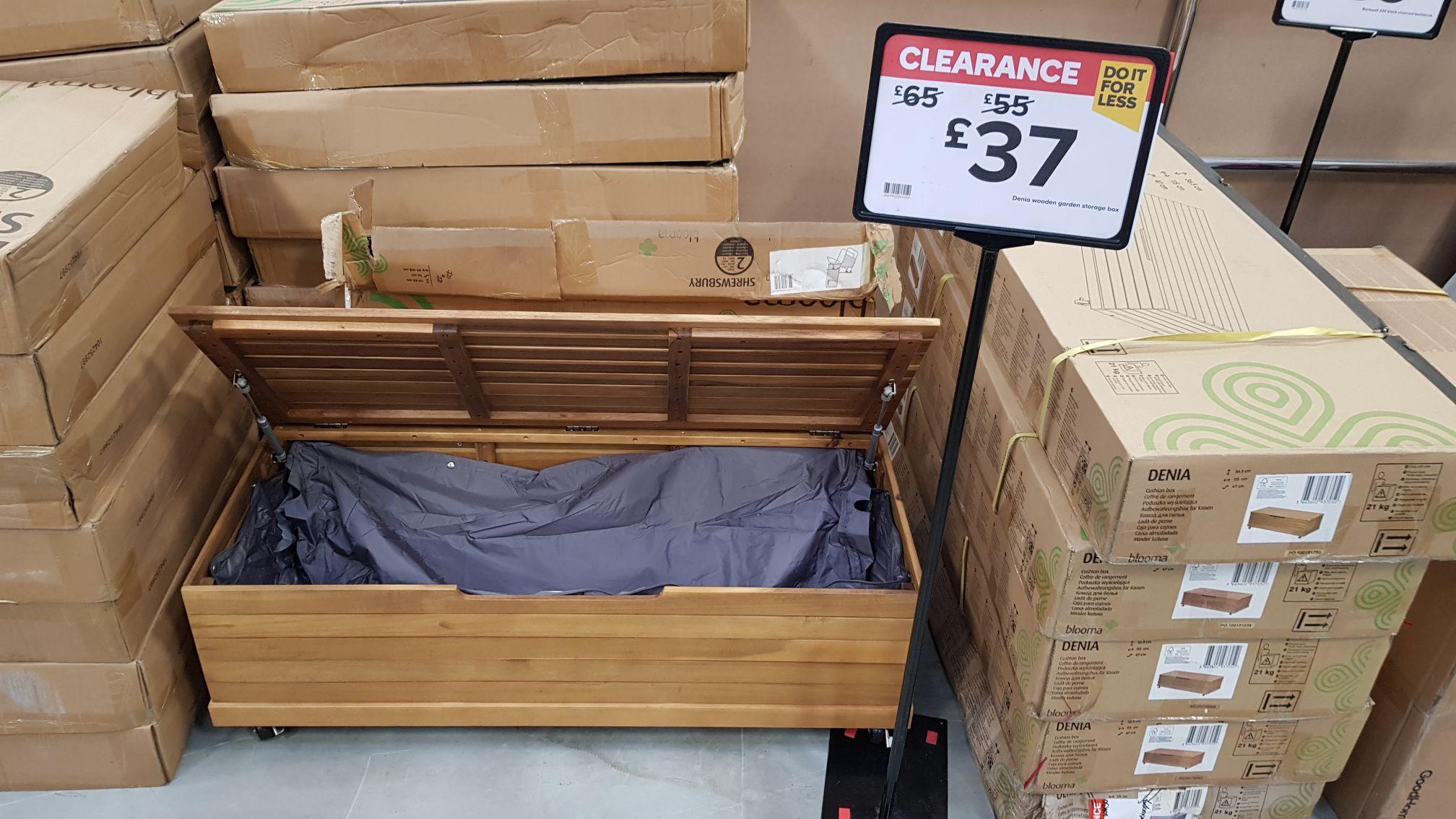 Denia Wooden Garden storage box - £37 @ B&Q