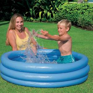 Intex Crystal Blue Three Ring Inflatable Paddling Pool 1.14m x 25cm £2.99 Delivered @ EuroCarParts