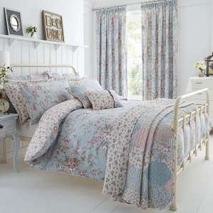 Bethany Duck Egg Reversible Duvet Cover and Pillowcase Set @ Dunelm Free Reserve & Collect £15.40