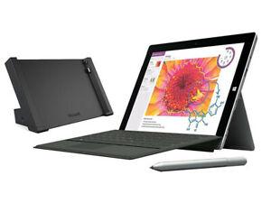 "Microsoft Surface 3 10.8"" 128GB + 4G Tablet, Docking Station, Keyboard and Pen (Seller Refurbished - Grade B) £169.99 @ StockMustGo/eBay"