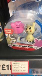 Pokemon figure twin pack reduced £1.75 at Tesco instore