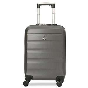 Aerolite (55x35x20cm) Lightweight Hard Shell Cabin Hand Luggage - Charcoal - £25.99 delivered @ Packed Direct