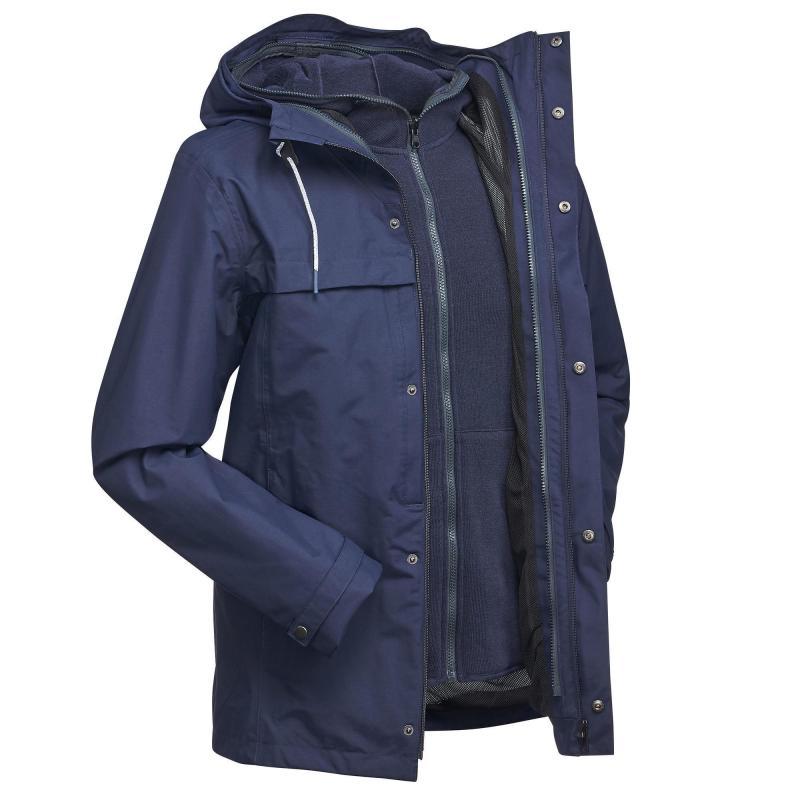 Forclaz Travel 100 3-in-1 Men's Waterproof Jacket - Blue £24.99 (was £49.99) @ Decathlon