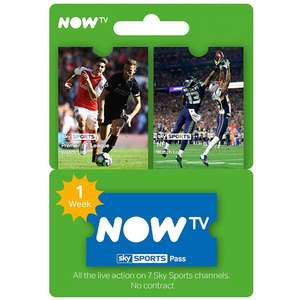 Now TV 1 Week Sports Pass £2.99 @ Electronic First - New Accounts See OP