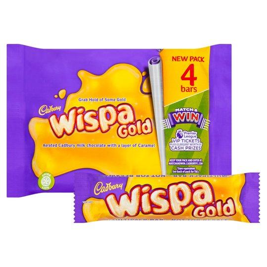 4 pack Wispa Gold £1 in Tesco