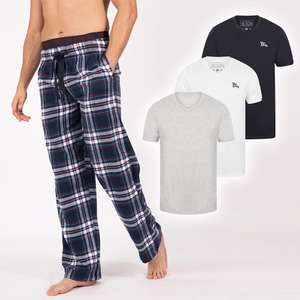 Men's Pyjama Bottoms + 3 Tops for £20 + Free delivery with code @ Tokyo Laundry