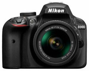 Nikon D3400 + AF-P 18-55Non-VR Digital SLR Camera & Lens Kit, £259.19 at Argos/ebay