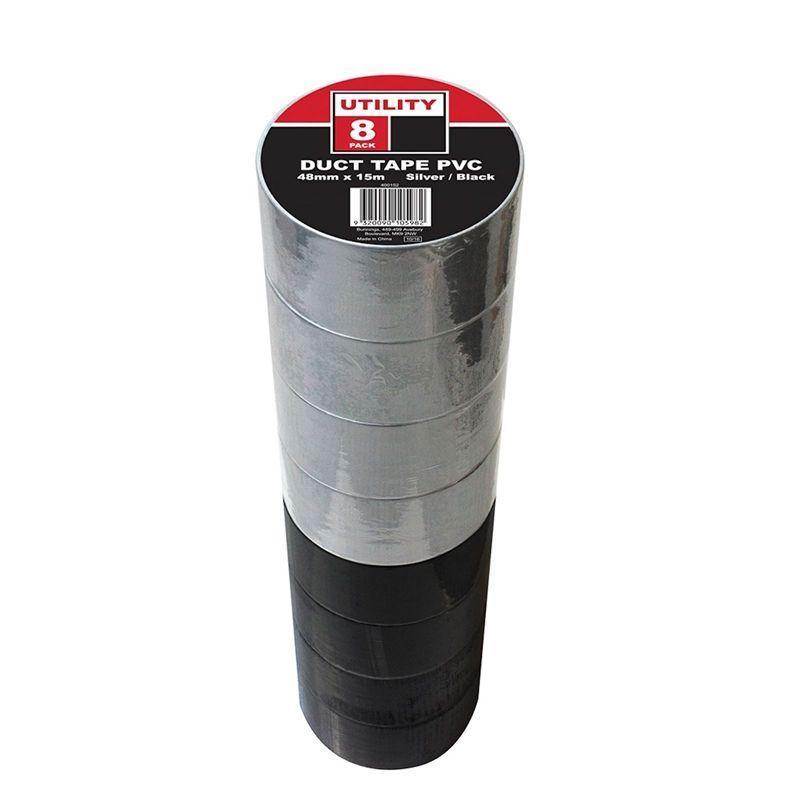 Utility Duct Tape Silver & Black 48mmx15m - 8 packSKU: 400152 - £3 @ Homebase