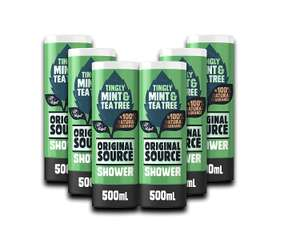 Original Source Mint & Tea Tree Shower 500ml (Pack of 6) now £9 (Prime) + £4.49 (non Prime) at Amazon