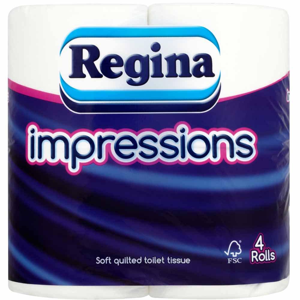 Regina Impressions Toilet Tissue 4 Rolls 3ply - £1.25 @ Wilko