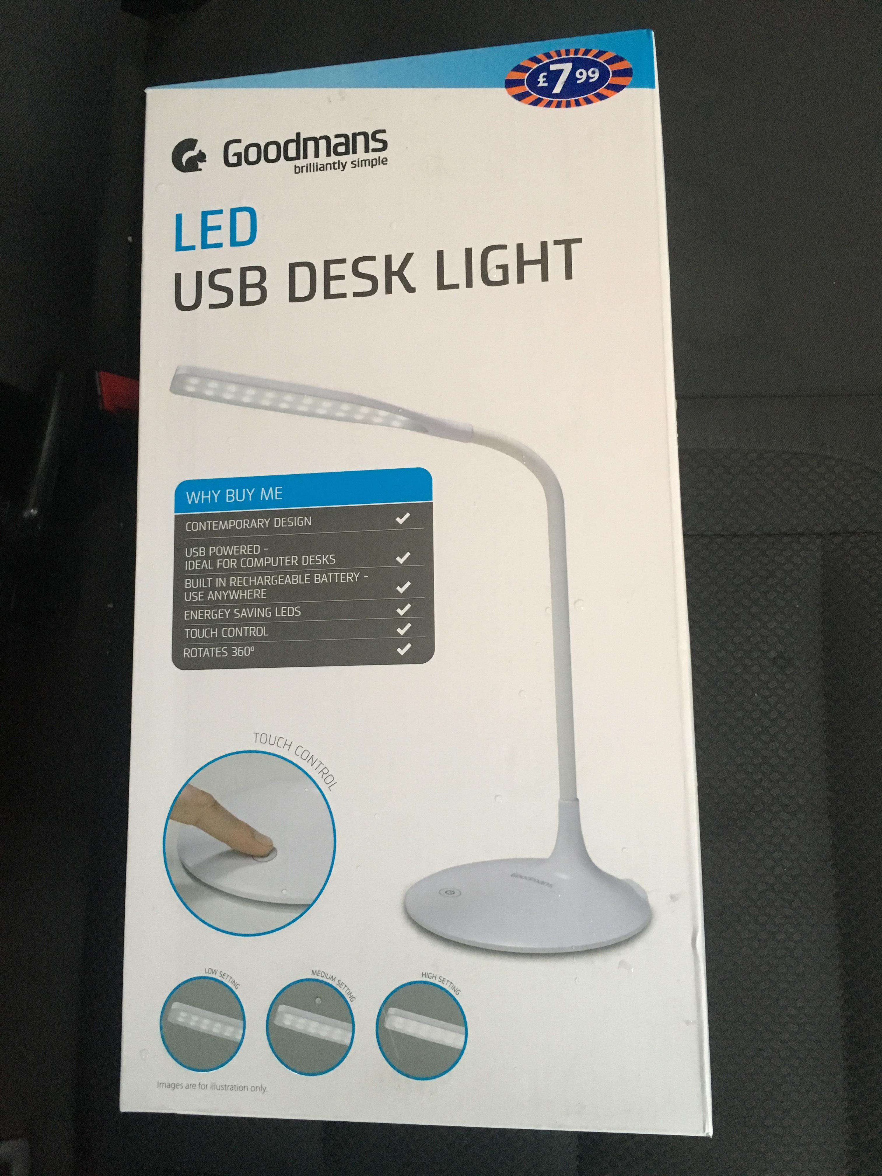 USB desk light £3 instore @ B&M Small Heath Birmingham