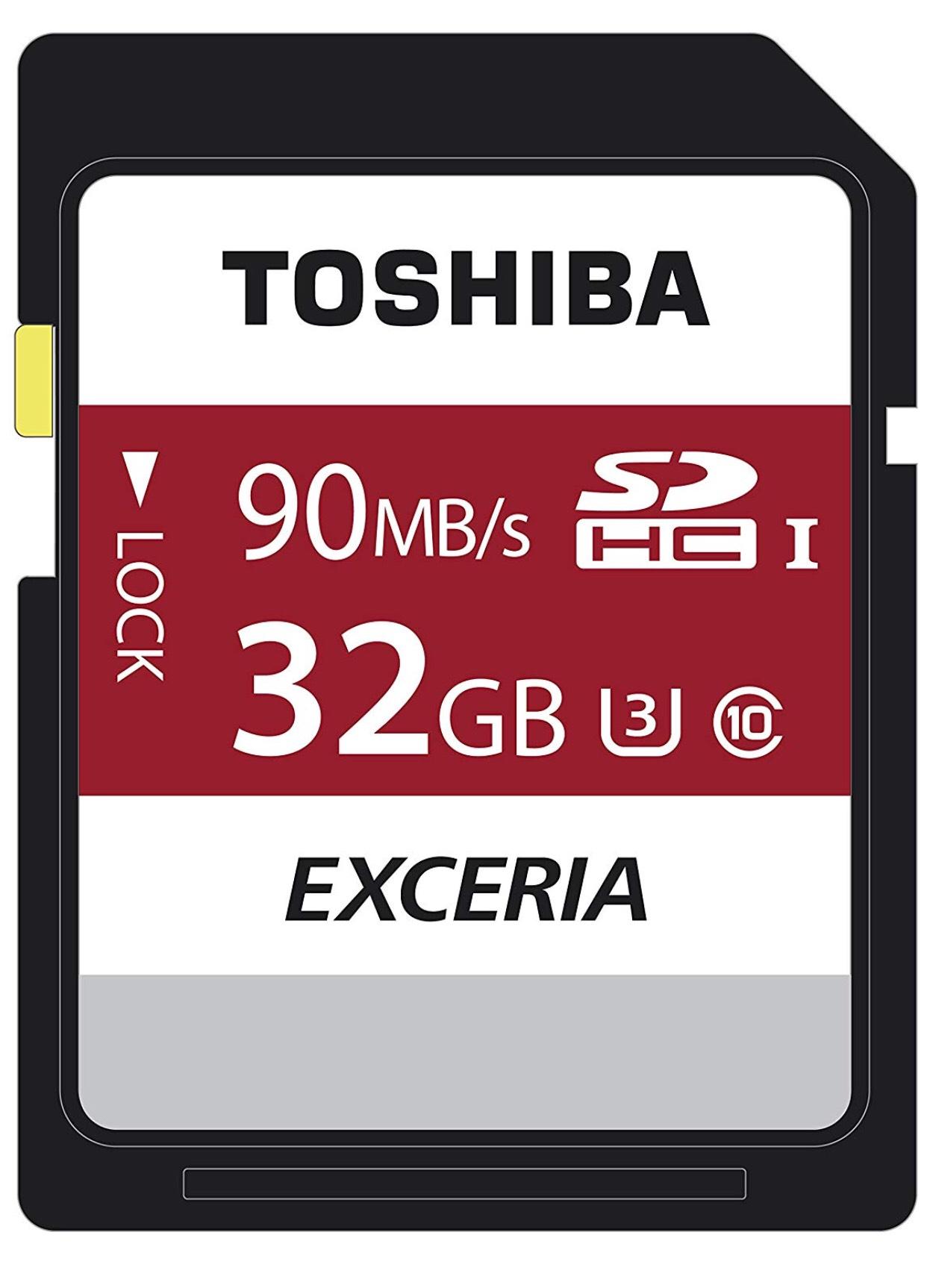 Toshiba 32GB Class 10 U3 £5.58 + 99p delivery Non Prime @ Amazon