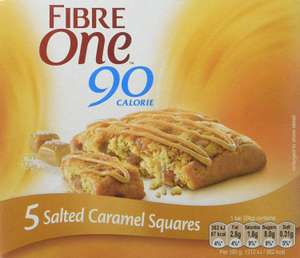 Fibre One 90 Calorie Salted Caramel Squares 24g (Pack of 25 Squares) £4.97 (add on item) @ Amazon