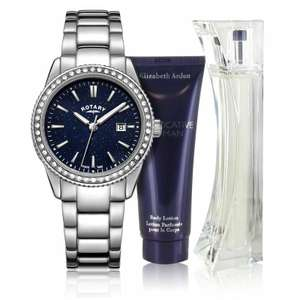 Rotary Ladies' Blue Aventerine Effect Watch and Perfume Set £29.99 @ Argos eBay