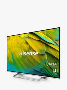 Hisense H55B7500UK (2019) LED HDR 4K Ultra HD £529.00 (viaprice match) @John Lewis then further £50 off cashback