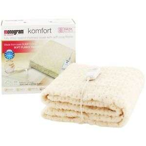 Monogram Komfort Fleece Heated Mattress Cover Single £9.99/Double £16.99/King £15.99 Free Delivery @ Argos eBay