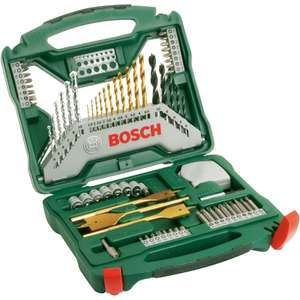 Bosch Titanium X-Line Drill Bit Accessory Set - 70 Piece for £12.50 @ Homebase
