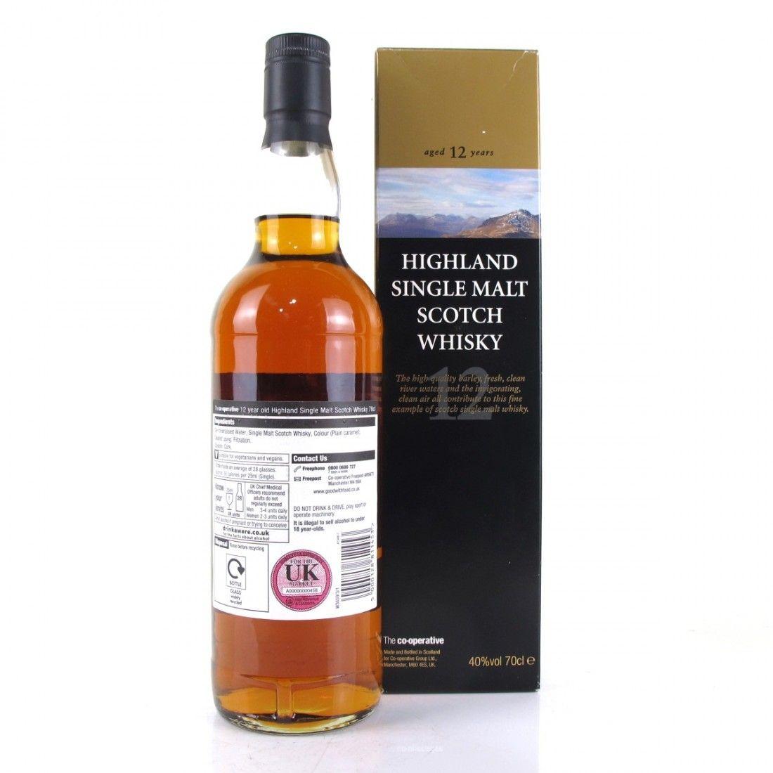 Co-op 12 year old Highland single malt £20