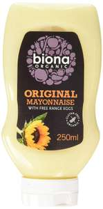 Biona Organic Original Squeezy Mayonnaise 250g (Pack of 8) @ Amazon Add On £5.50