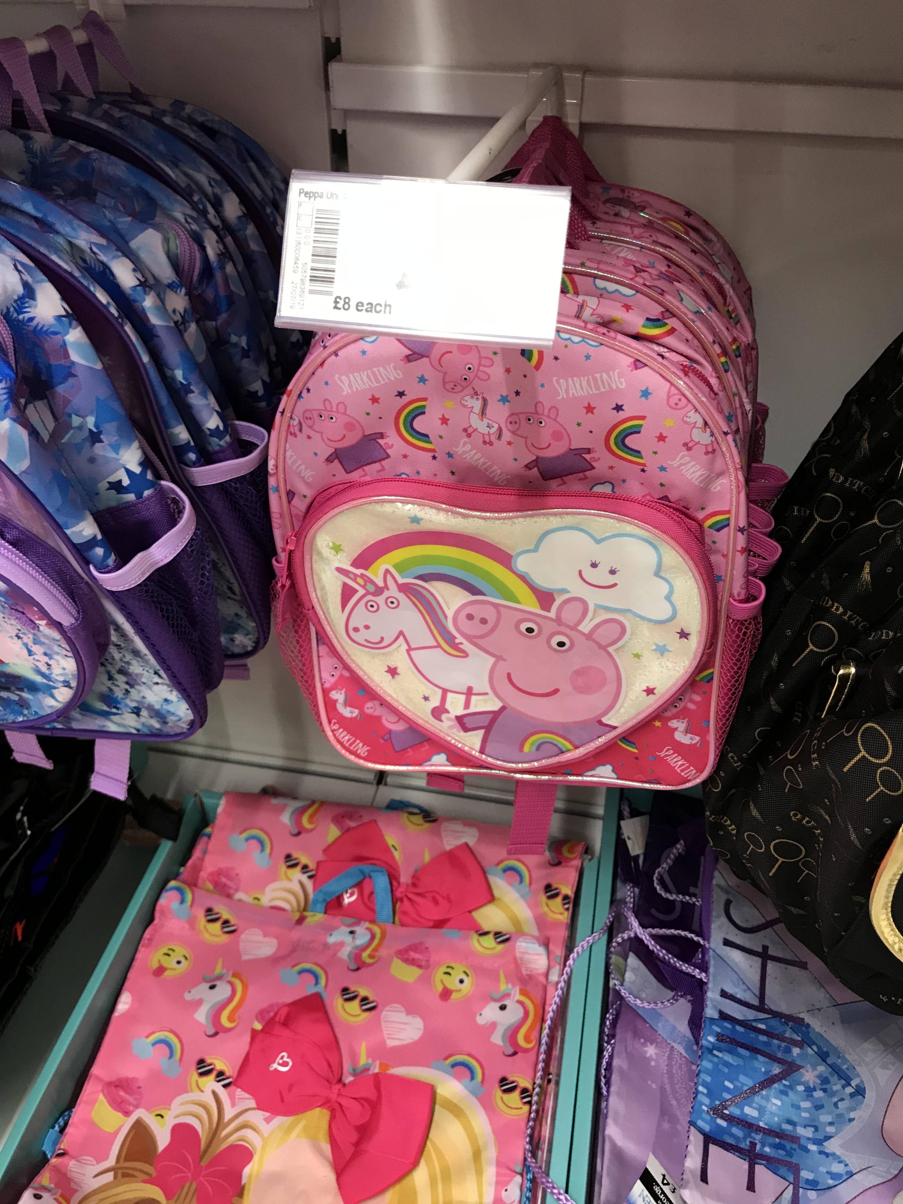 Peppa Pig Backpack Scanning at £4 Marked up £8 Asda Cwmbran