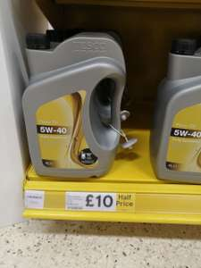 4 litres 5W-40 Fully Synthetic Motor Oil £10 instore @ Tesco