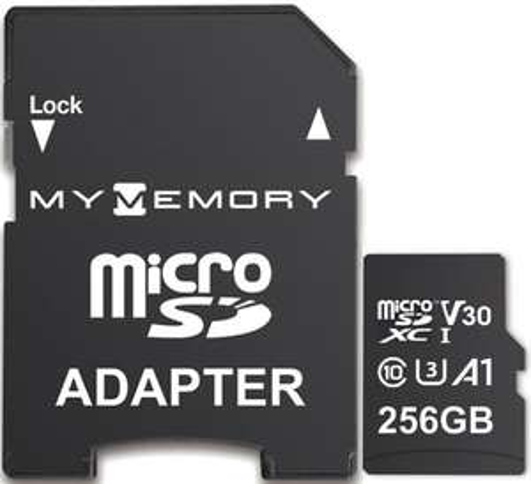 256GB MyMemory V30 PRO Micro SDXC TF Memory Card A1 UHS-1 U3 + Adapter - 100MB/s + Lifetime Warranty - £22.99 @ eBay MyMemory