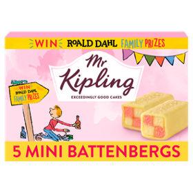 Mr Kipling Mini Battenbergs 5 pack now 85p at Asda Groceries discount deal