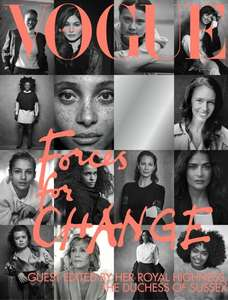 Vogue magazine guest edited by HRH The Duchess of Sussex special price £2 from £3.99