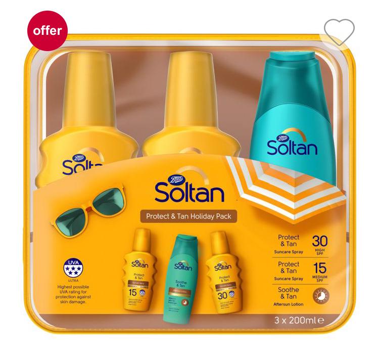 Boots Soltan 3 pack & St. Tropez self tan Triple discount glitch