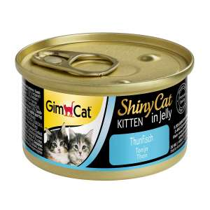 GimCat ShinyCat Kitten in Jelly Tuna Tender Fish in Jelly – High in Protein – 24 x Cans 70g Add on £6.31 at Amazon
