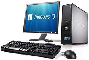 WiFi enabled Complete set of Dell OptiPlex Dual Core Windows 10 Desktop PC Computer (Renewed) £61.95 delivered @ The IT Buffs - Amazon
