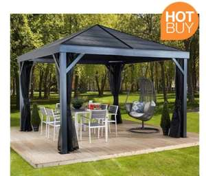 Sojag South Beach 12ft x 12ft (3.64 x 3.64m) Sun Shelter with Galvanised Steel Roof at Costco for £1099.99