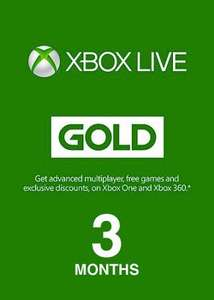 Xbox live 3 month gold £6.99 at Microsoft