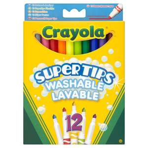 Crayola Supertips Superwashable Felt Tips 12 pack  £1.50 @ Wilko