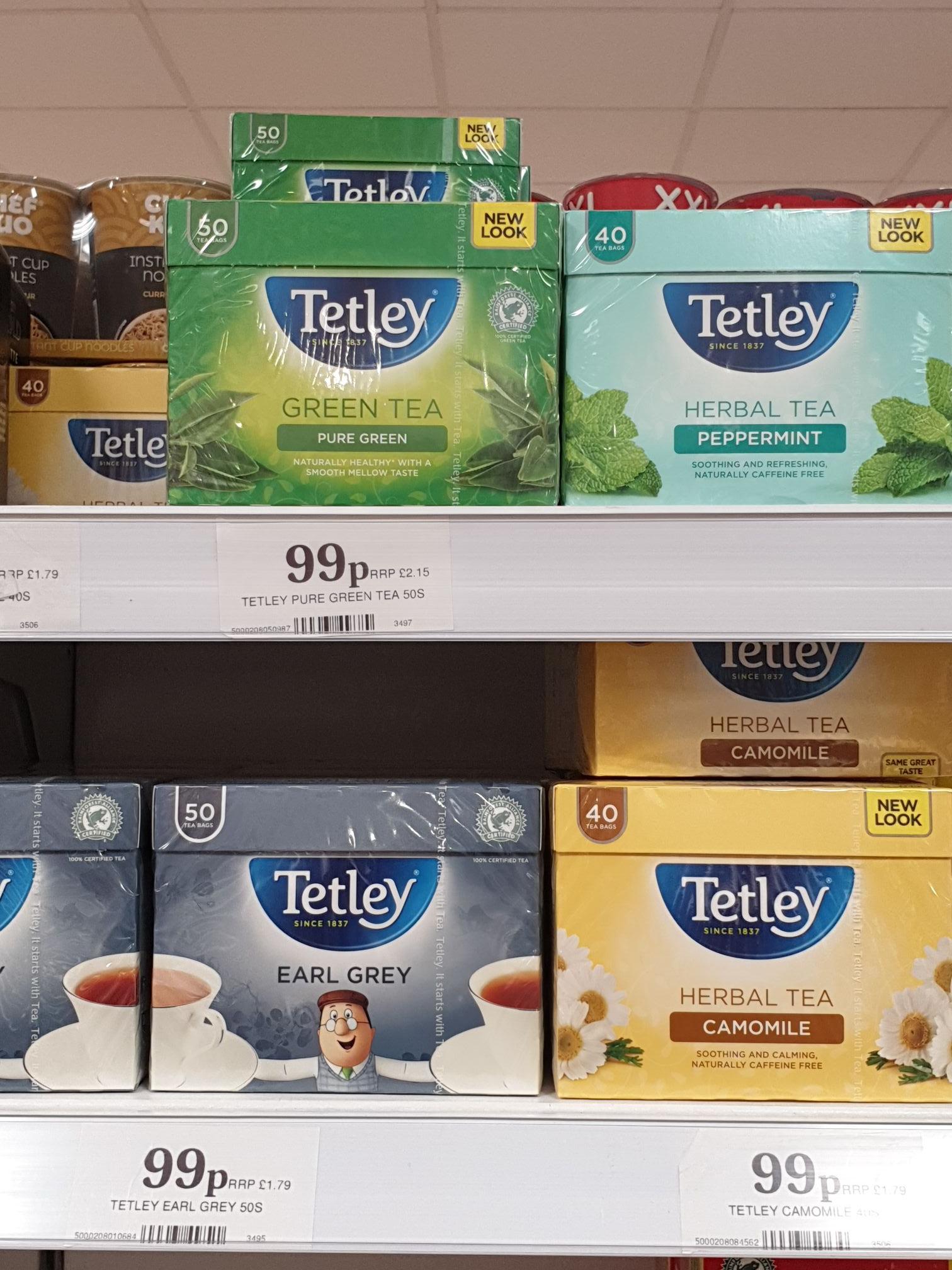Tetley Tea Various Flavours now 99p @ Home Bargains