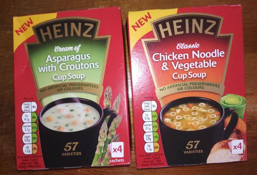 Heinz Cup Soup (4 portions) Poundstretcher £0.59