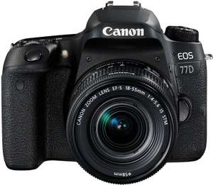 Canon EOS 77D DSLR with 18-55mm Lens £538.53(£468.53 after cashback) @ Amazon