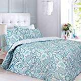 Moroccan Paisley Aqua Double Fully Reversible Duvet Set Pieridae Sold By Smiths Trading & Fulfilled By Amazon £10.99 Prime £15.48 Non Prime