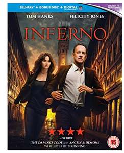 Inferno - [Blu-ray] 2016 - new with UV code - £2 @ Poundland instore