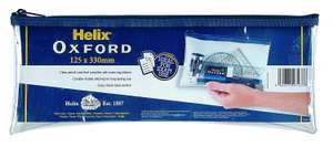 Helix Oxford 13 inch Clear Pencil Case now £1.19 add-on item at Amazon