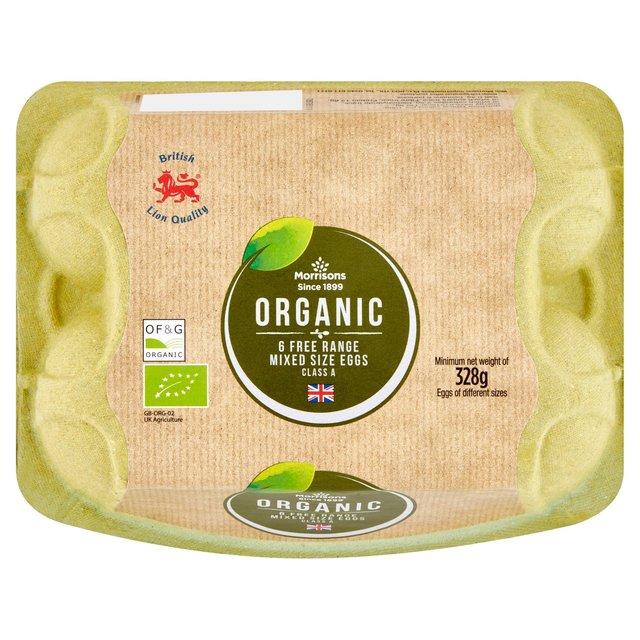 Organic Eggs 6 per pack -  £1.25 @ Morrisons (in-store & online)