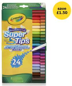 Crayola Supertips 24 pack - £3 in-store @ Wilko