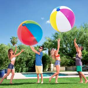 """Bestway 60"""" (152.4 cm) Multicoloured Beach Balls - Pack of 2 at Costco for £4.99 delivered"""